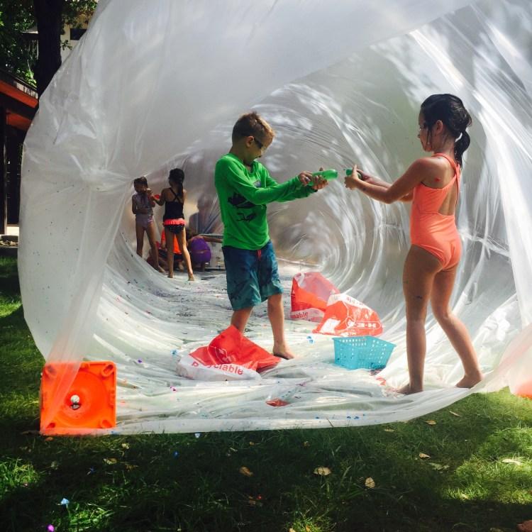 Wee Warhols, air art, Figment Creative, environmental sculpture, Austin, Summer camp