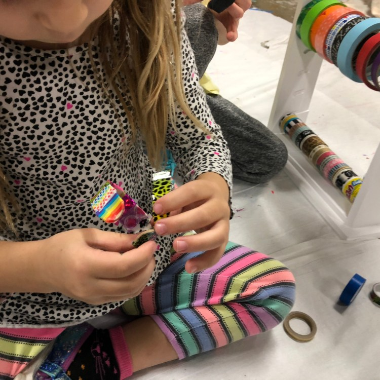 bending wood, making bracelets, diy, Figment Creative Labs, Austin Texas, Kid's craft, STEAM, STEM, science, kids activity