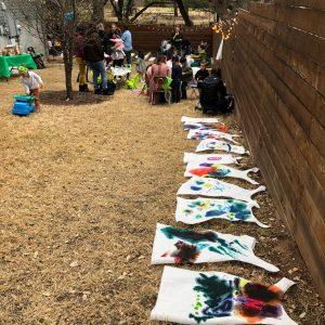 Kid's capes, superhero cape diy, art project, Figment Creative Labs, Austin TX, Superhero party, craft,
