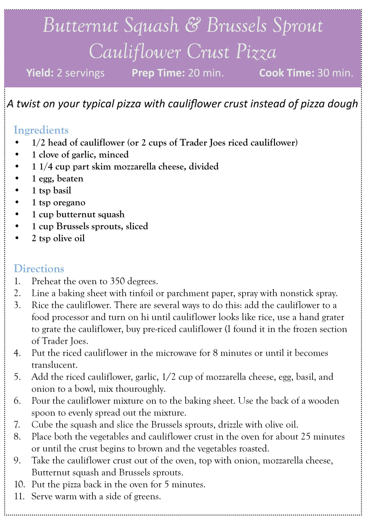 roasted butternut squash & carrot salad