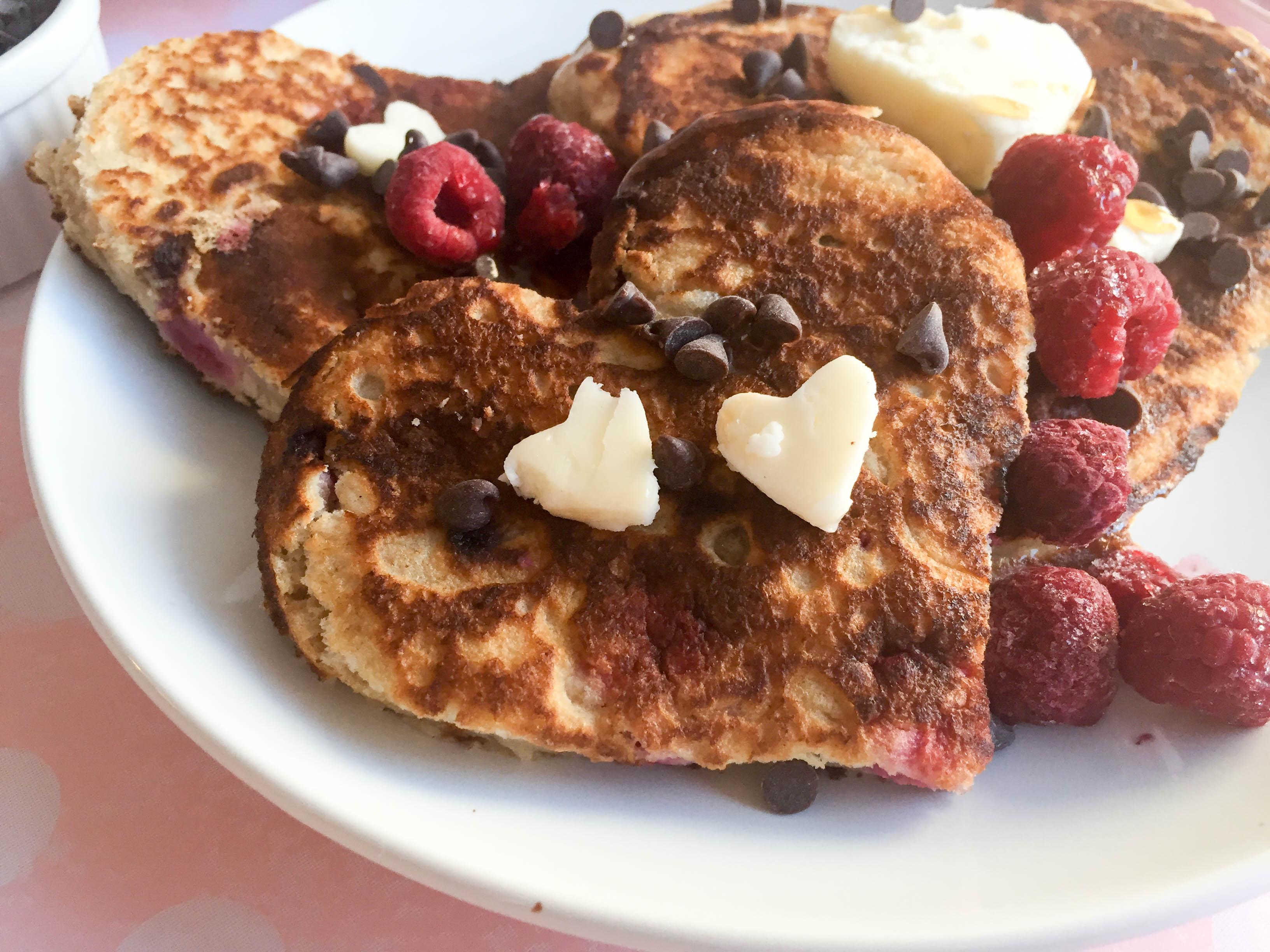 Raspberry Chocolate Chip Pancakes