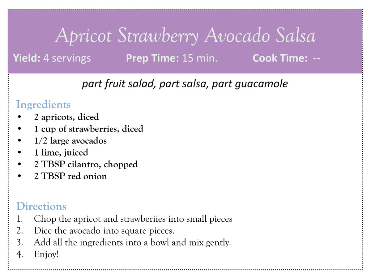 Apricot Strawberry Avocado Salsa