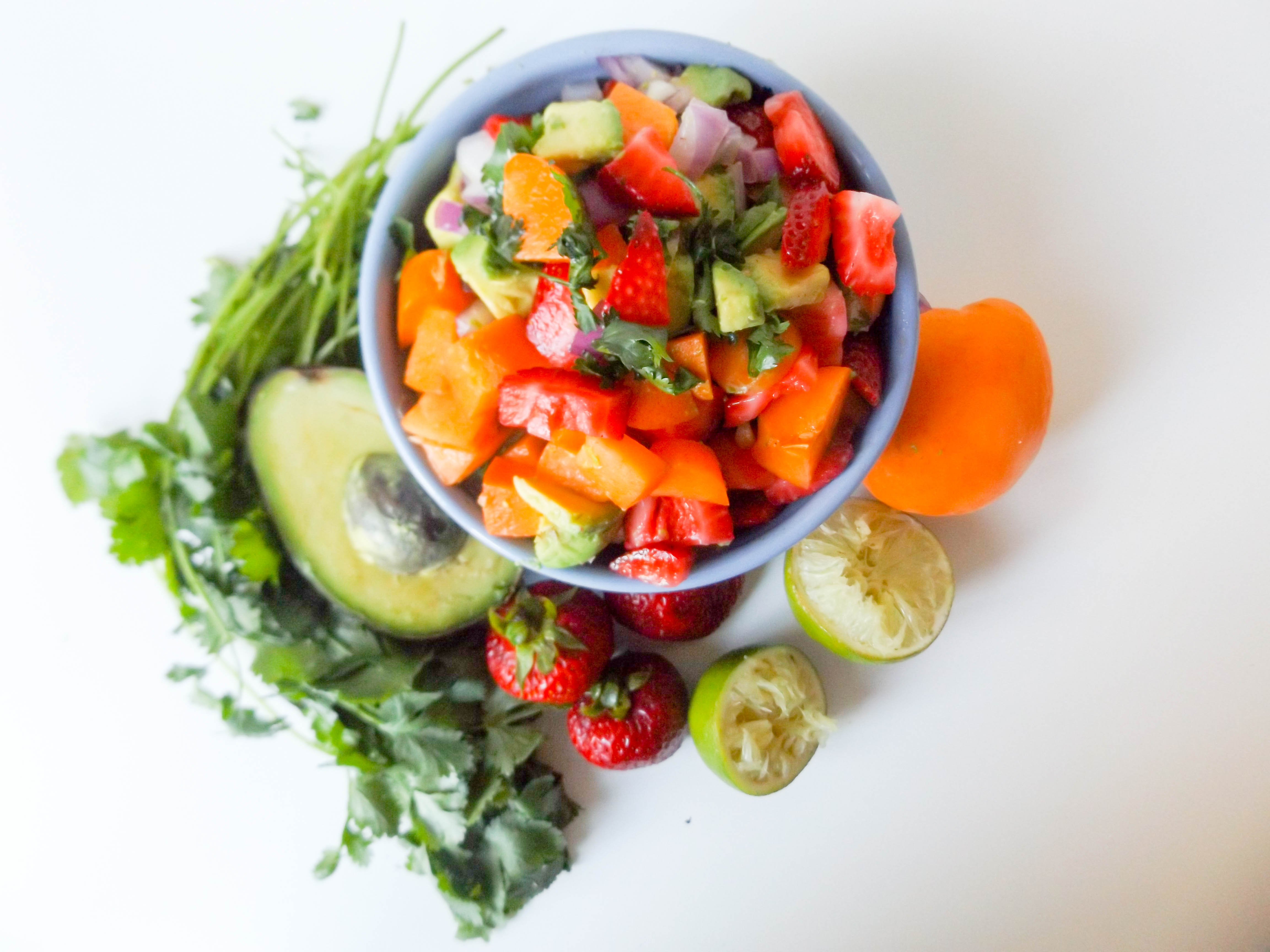 Apricot Strawberry Avocado Salsa