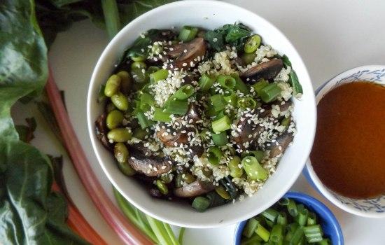 Miso Swiss Chard Quinoa Bowls