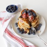 red white and blueberry pancakes