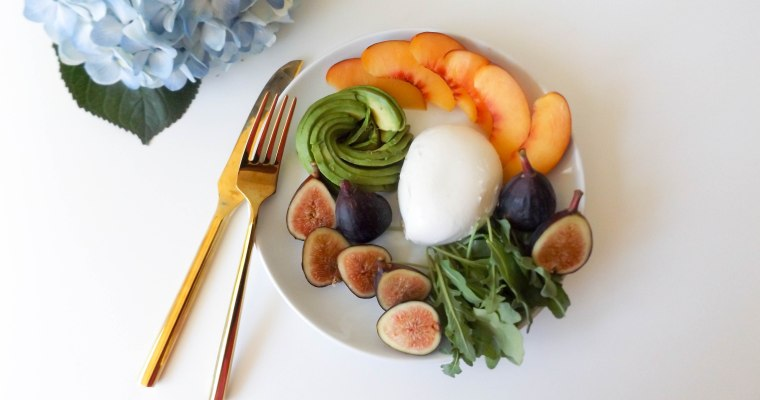 Fig, Avocado, Buratta, Nectarine Salad