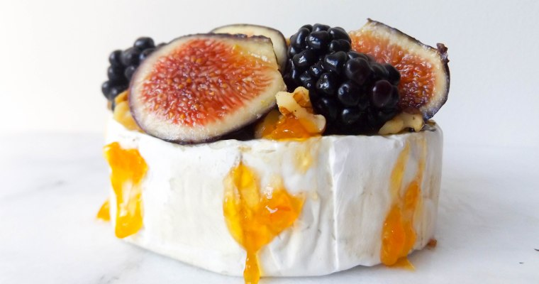 Fig & Blackberry Baked Brie