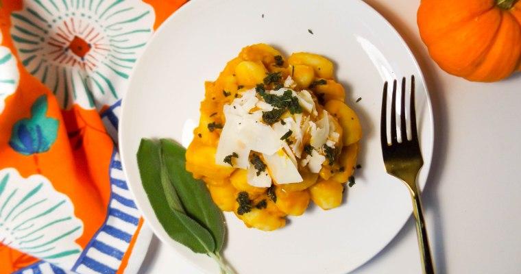 Pumpkin Gnocchi with Crispy Sage and Parmesan