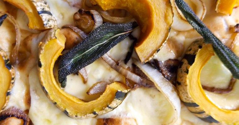 Delicata Squash & Mushroom Flatbread