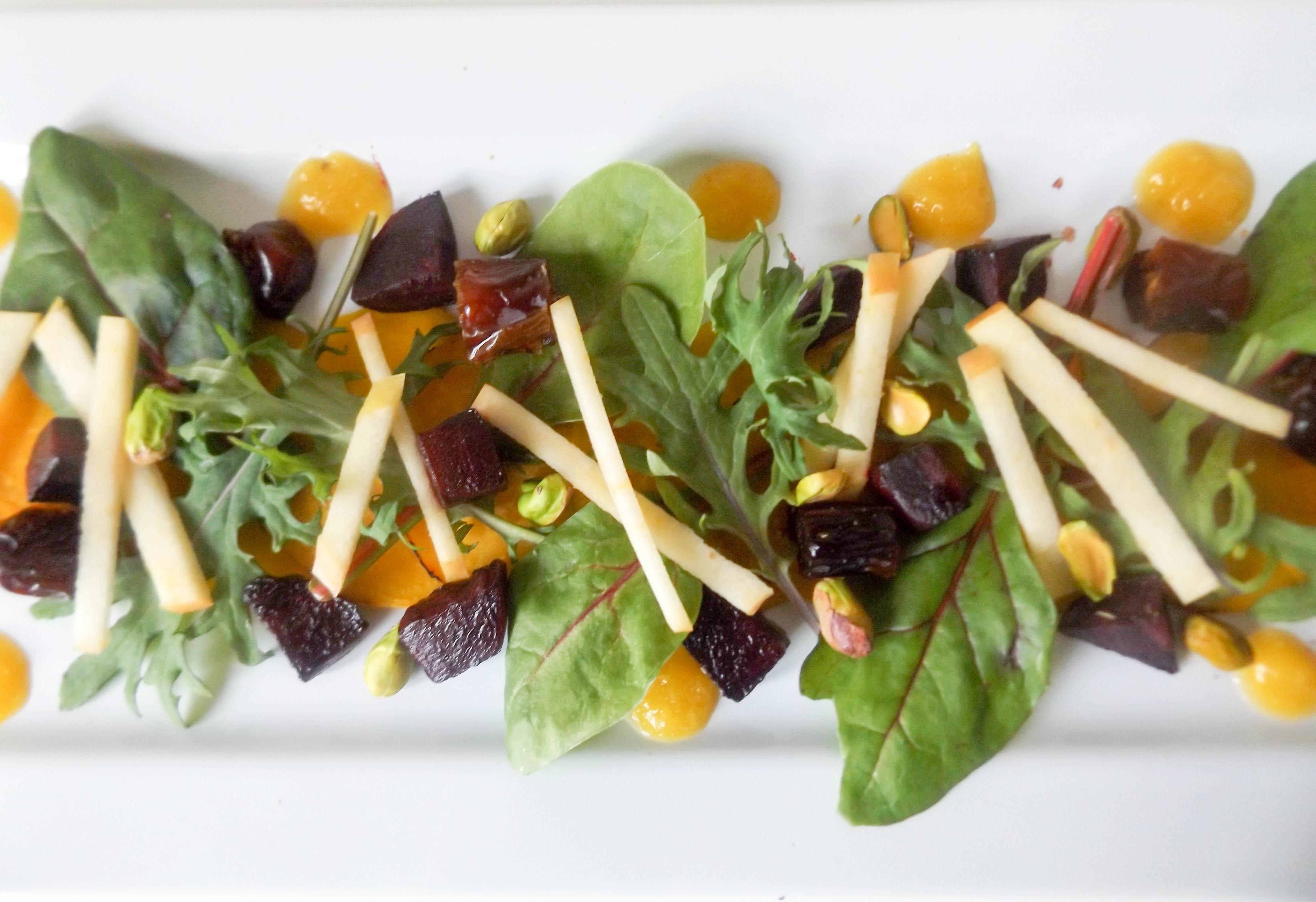 Beet Date Apple & Pistachio Salad