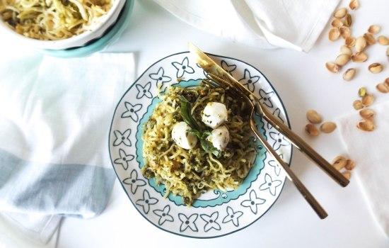 Pistachio Pesto Parsnip Noodles