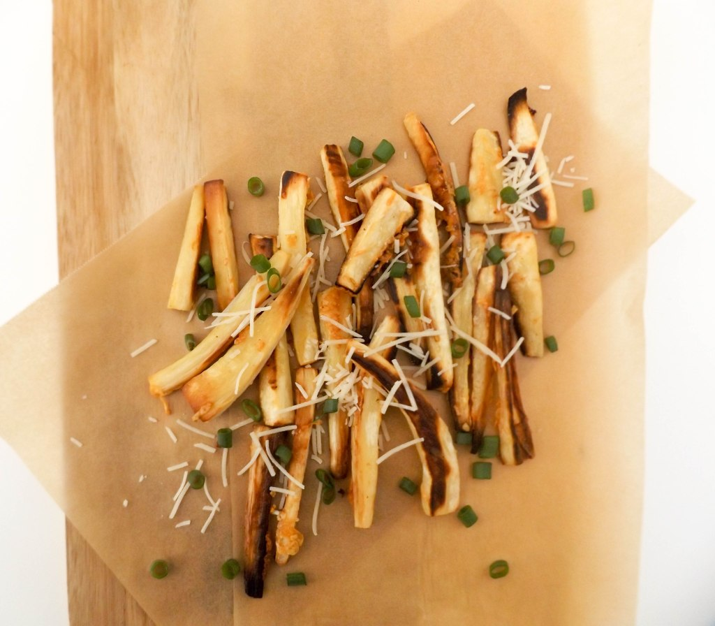 Truffle Parmesan Parsnip Fries