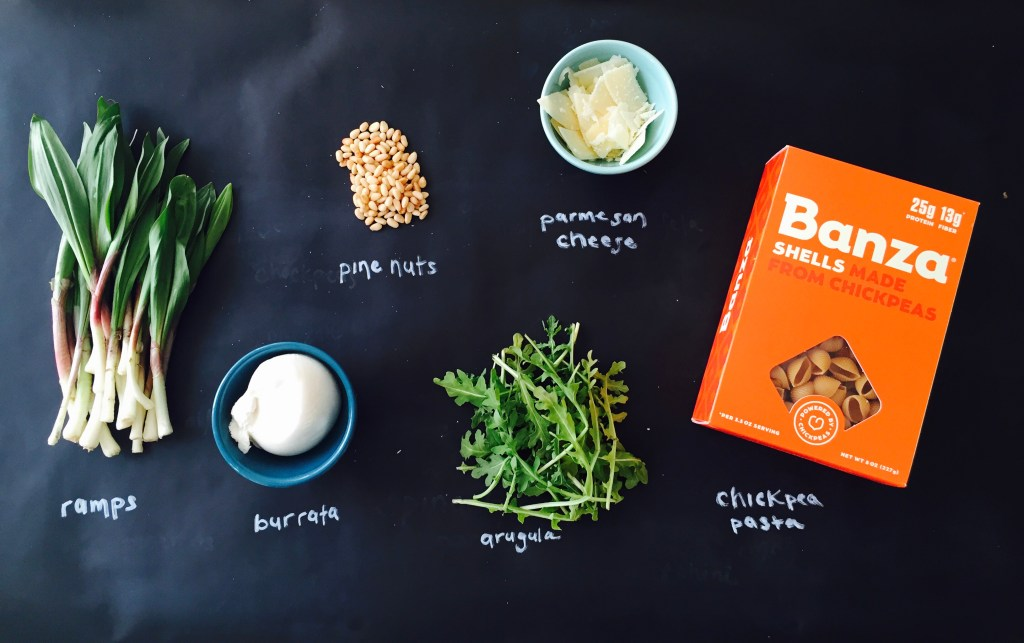 Burrata & Ramp Pesto Penne