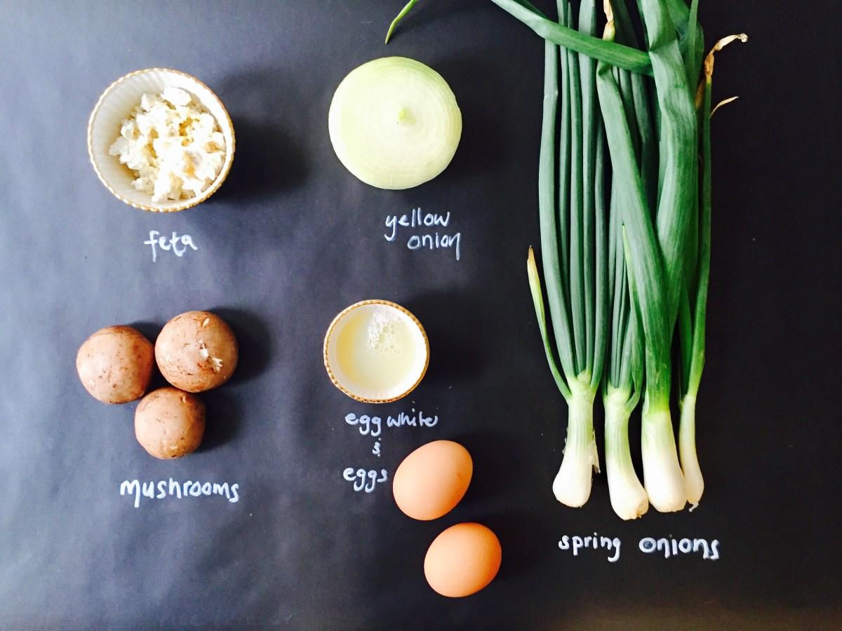 Spring Onion Frittata chalkboard