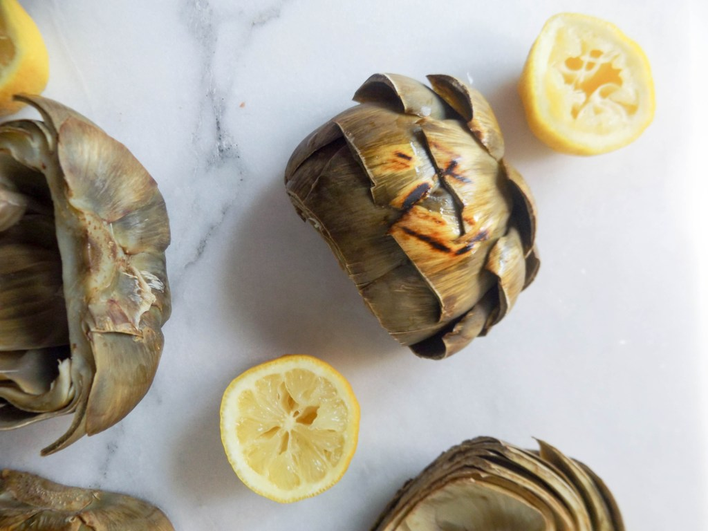 Grilled Artichoke & Pesto