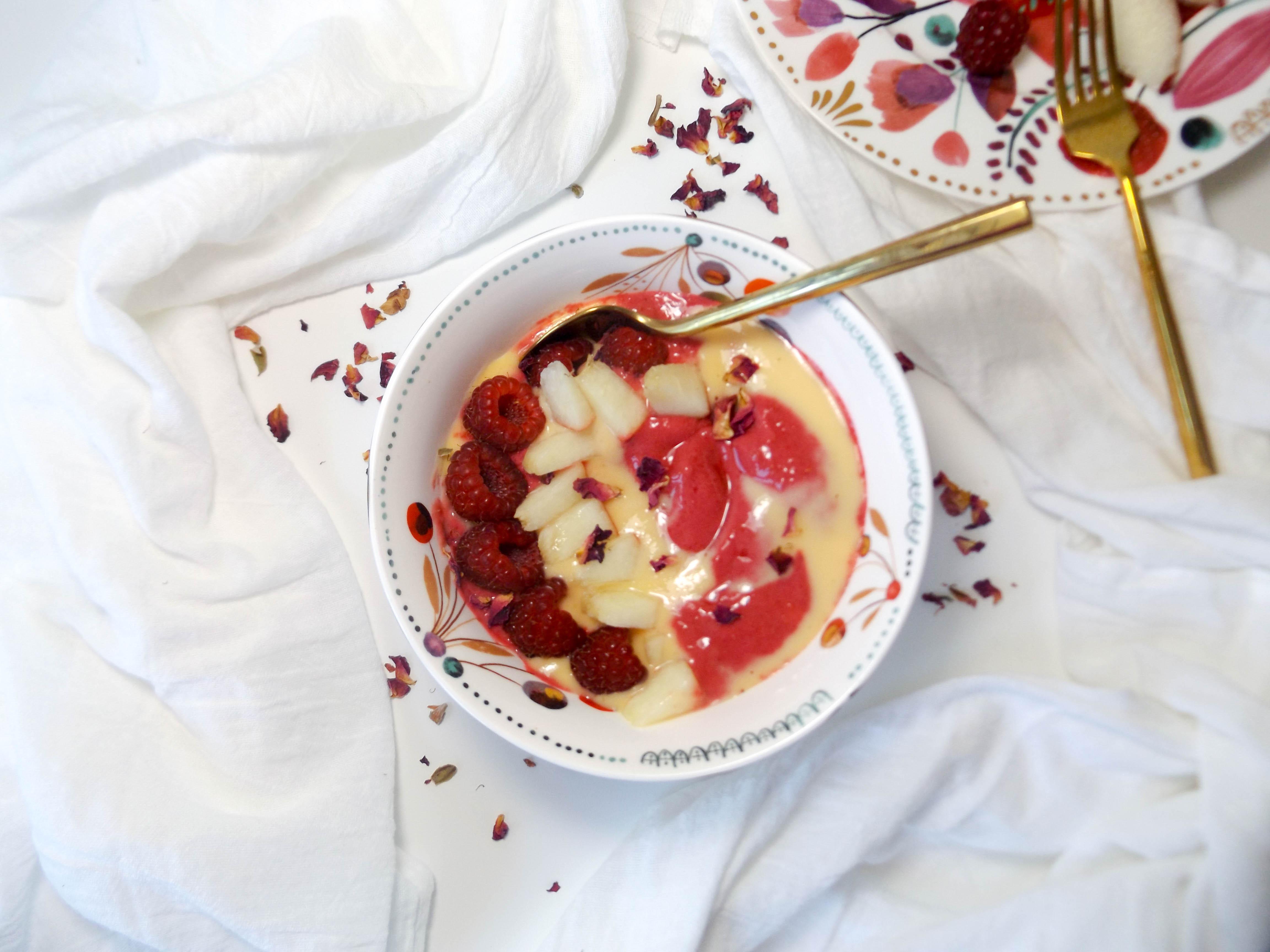 Peach Raspberry Swirl Smoothie