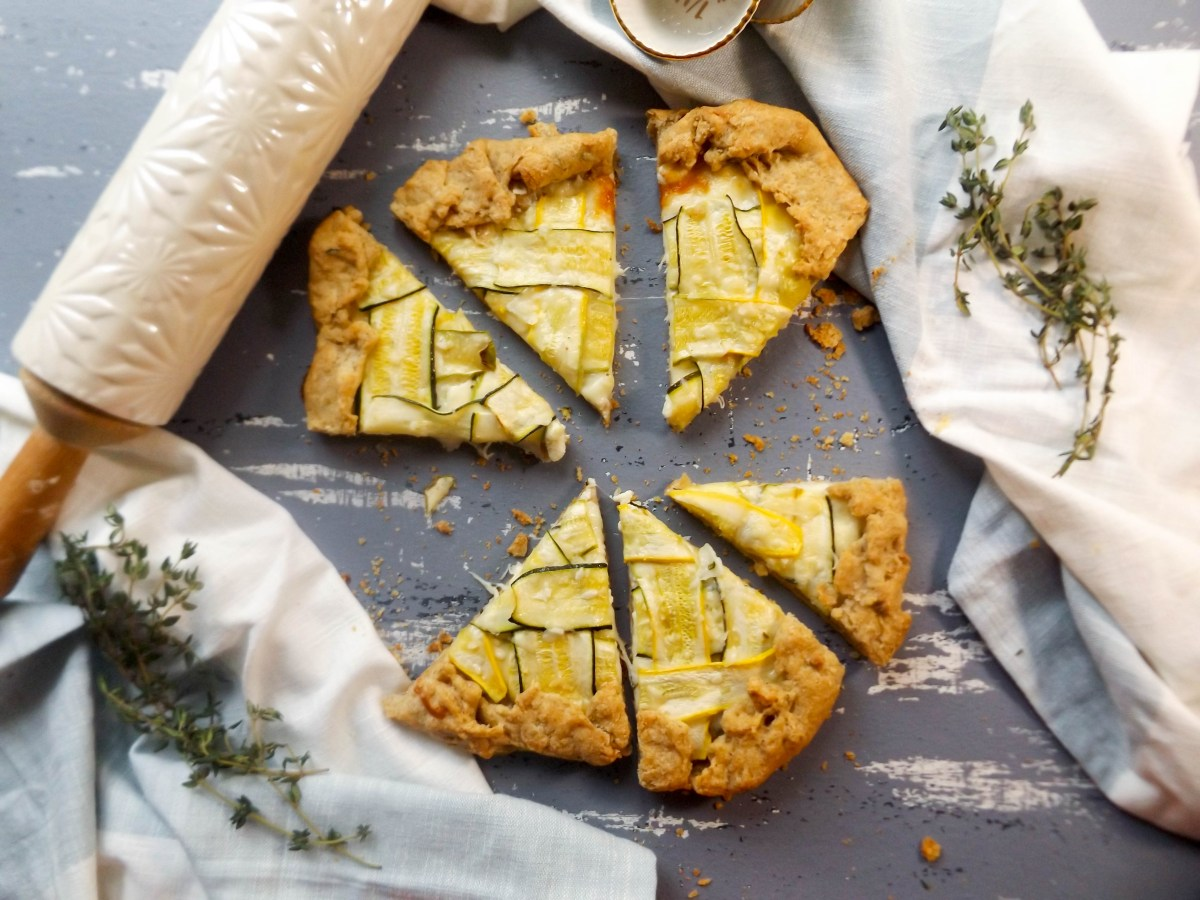 Summer Squash Lattice Galette