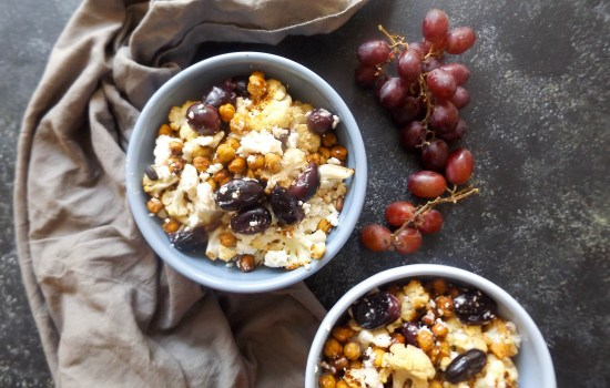 Roasted Cauliflower, Chickpeas & Grapes