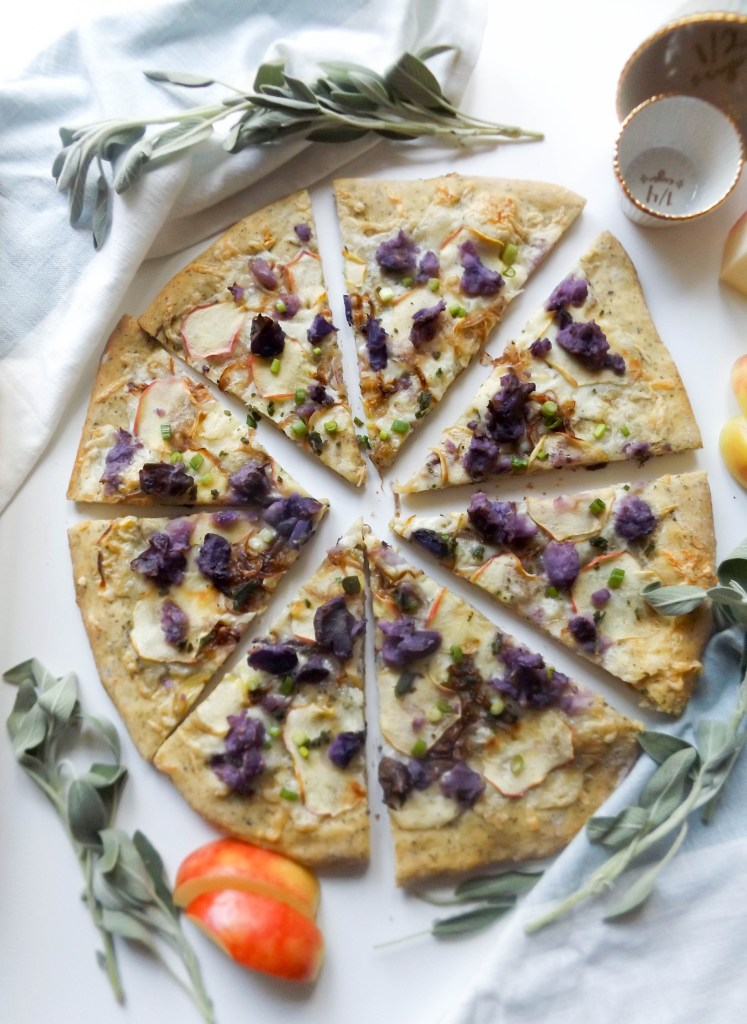 Apple & Purple Potato Pizza