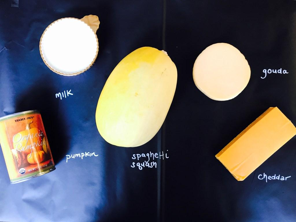 Spaghetti Squash Pumpkin Mac and Cheese