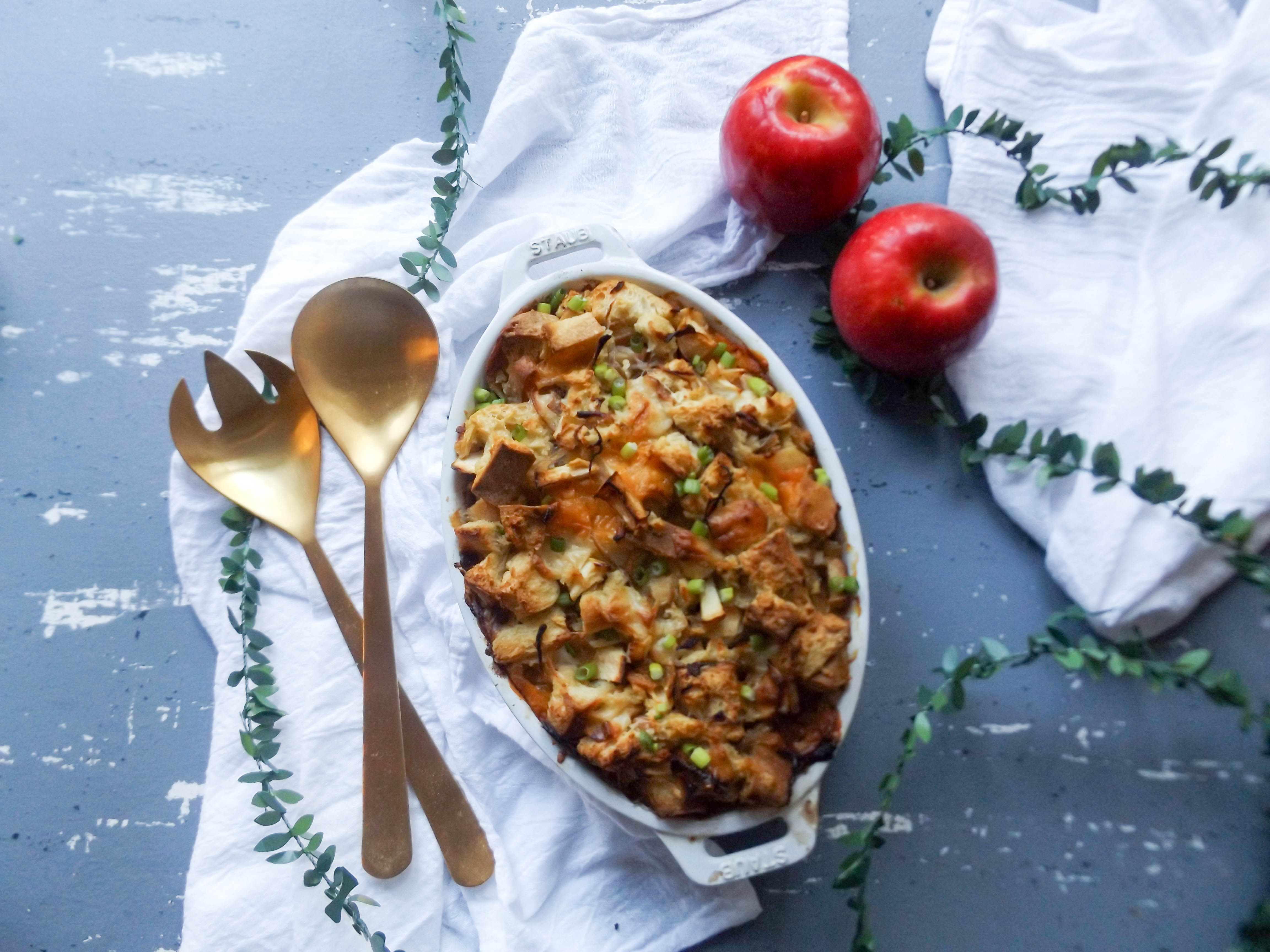 Apple, Caramelized Onion & Cheddar Stuffing