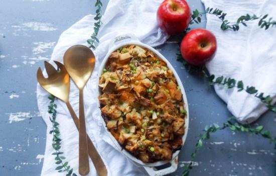 Apple, Caramelized Onion & Cheddar Stuffing