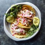 Honeynut Squash Tacos with Pear Raddichio Slaw