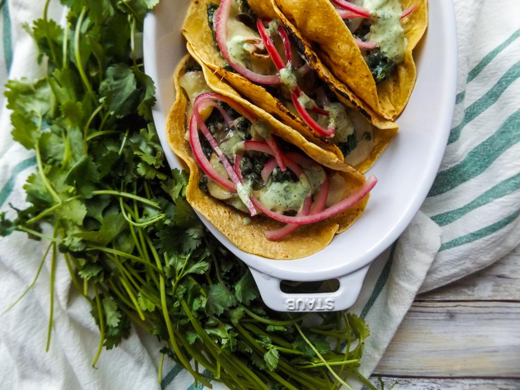 Creamy Kale and Potato Taco
