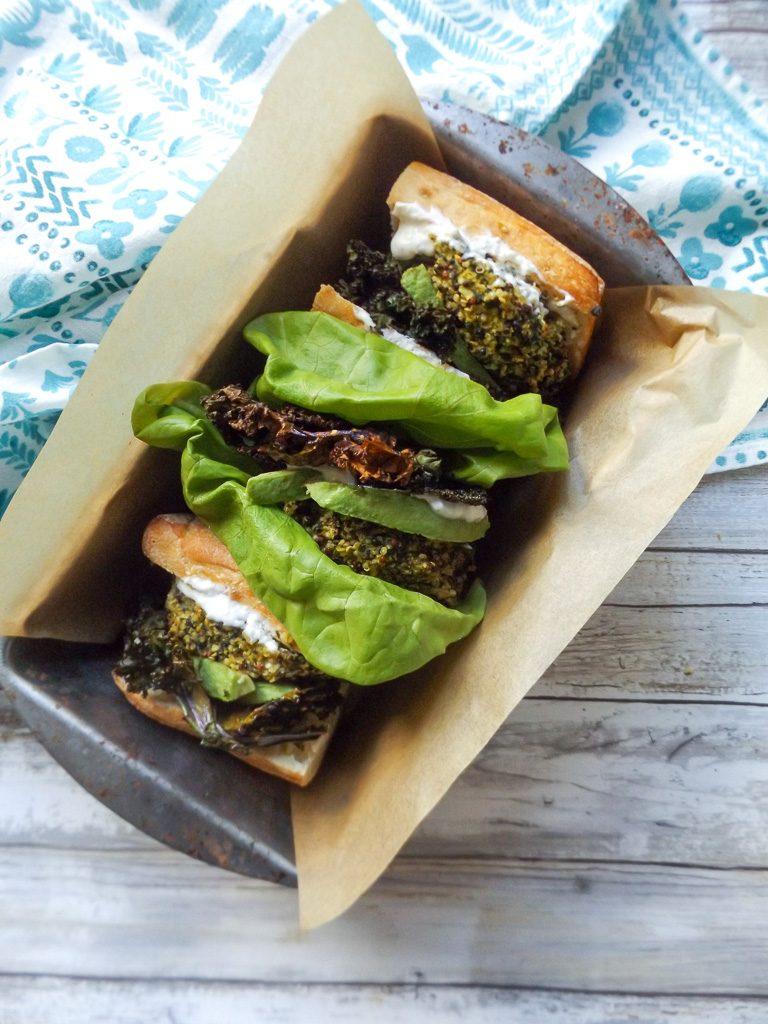 Cauli-Kale-Quinoa Veggie Burger