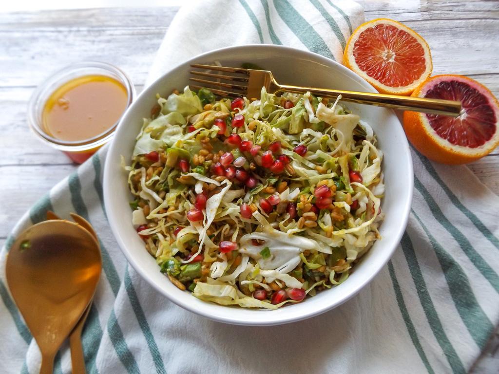 Farro Slaw Salad with Blood Orange Vinaigrette