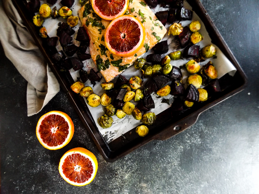 Blood Orange Sheet Pan Dinner