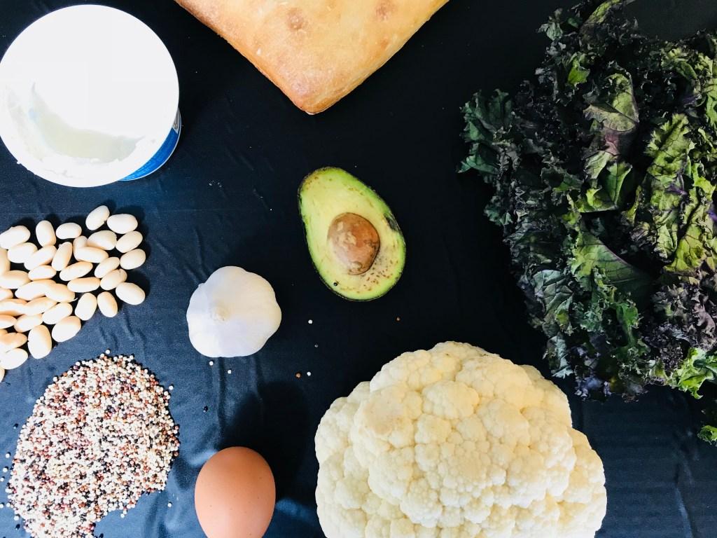 CauliKale-Quinoa Veggie Burger