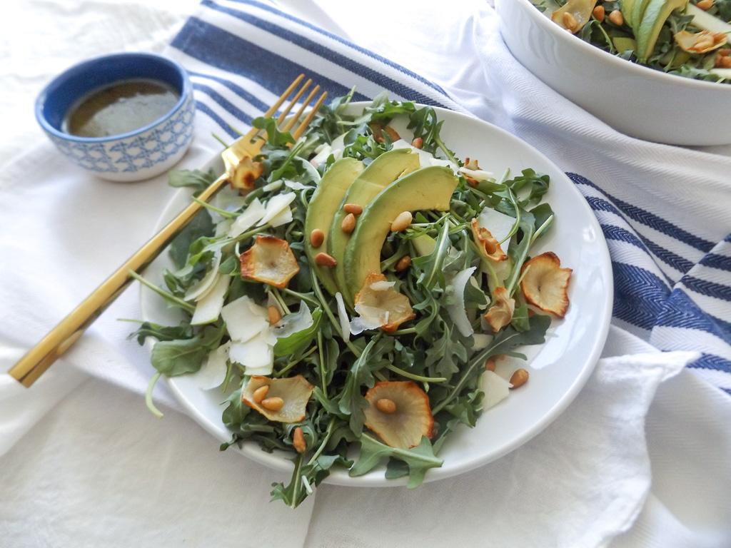 Sunchoke & Green Apple Arugula Salad