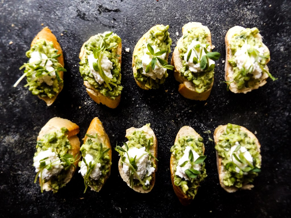 Avocado & Pea Crostini