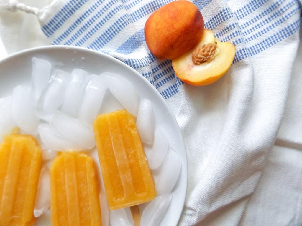 Nectarine Wine Slushie Popsicles