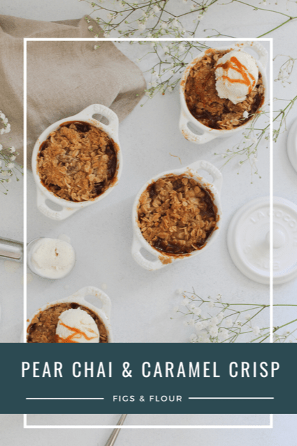 pear chai and caramel crisp