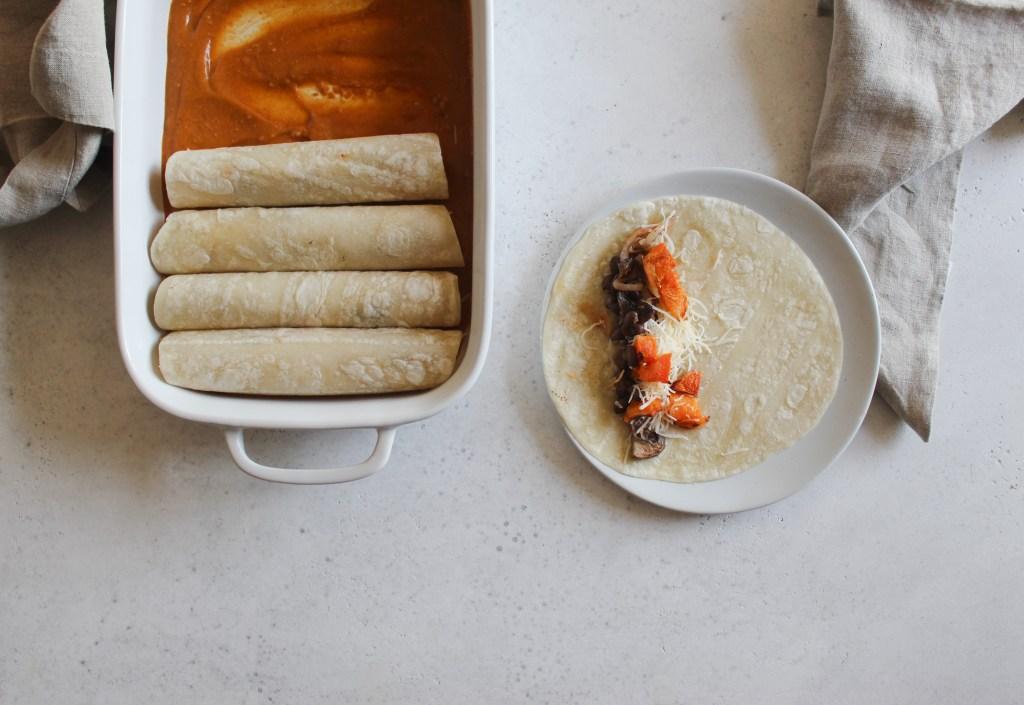 Butternut Squash Enchiladas