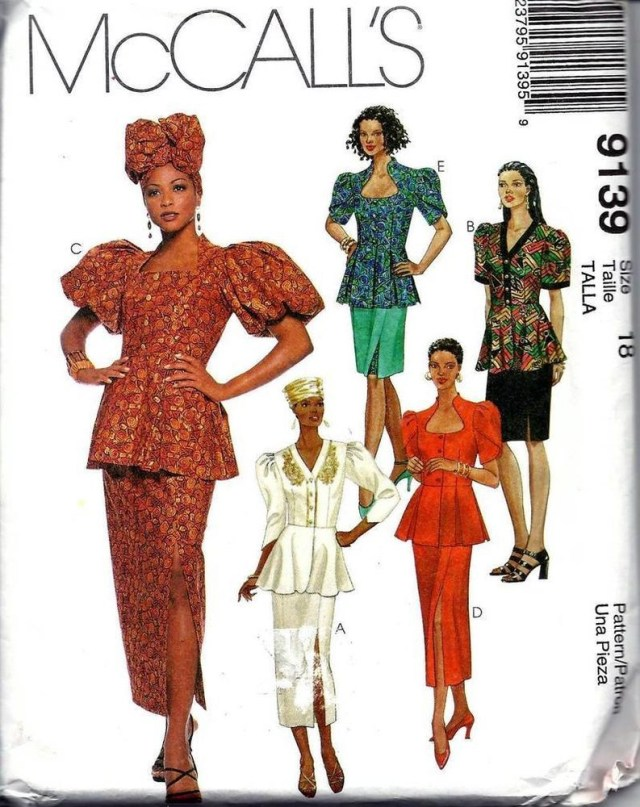 African Dress Patterns For Sewing Mccalls Ethnic African Top Skirt Headwrap Hat Sew Pattern 9139 Size