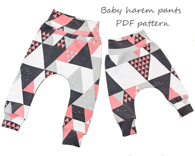 Aladdin Pants Sewing Pattern Ba Harem Pants Pattern Pdf Download Sewing Patterns And Tutorials