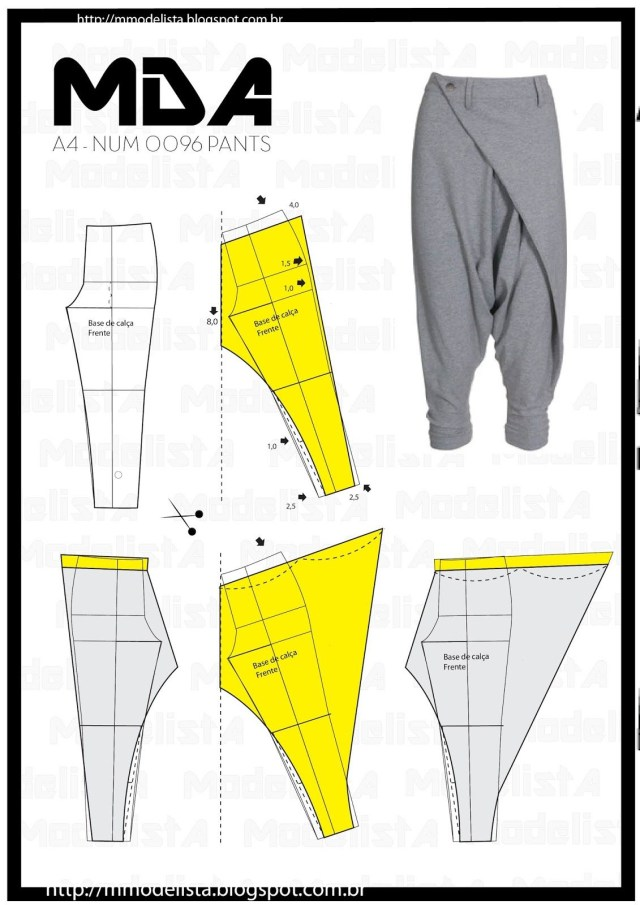 Aladdin Pants Sewing Pattern Babucha Mujer Style Pinterest A4 Patterns And Sewing Patterns