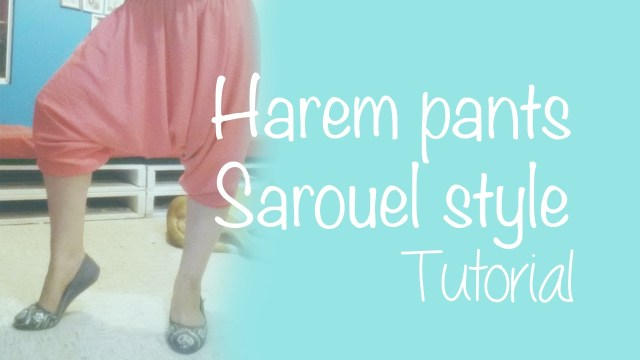 Aladdin Pants Sewing Pattern How To Make Harem Pants Sarouel Style Youtube