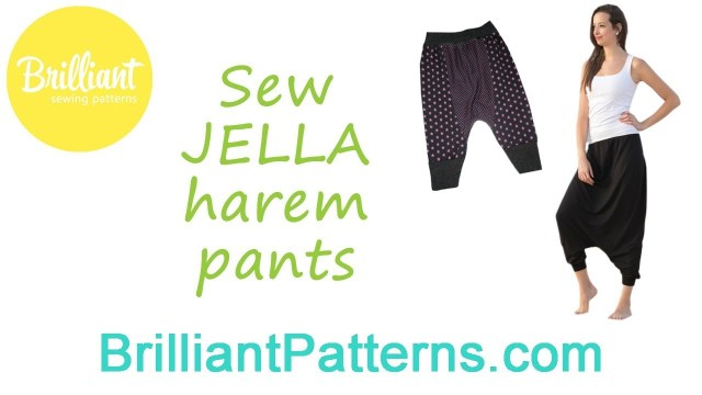 Aladdin Pants Sewing Pattern Sew Jella Harem Pants Designed Brilliant Patterns Youtube