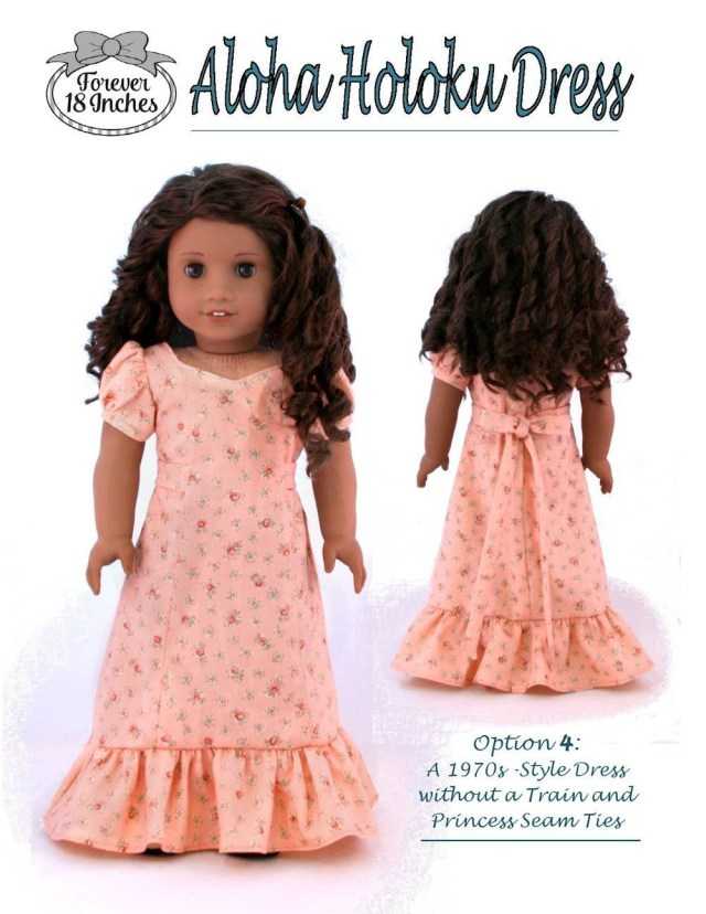 American Girl Doll Sewing Patterns Aloha Holoku Dress 18 Doll Clothes Pattern Dolls Doll Clothes
