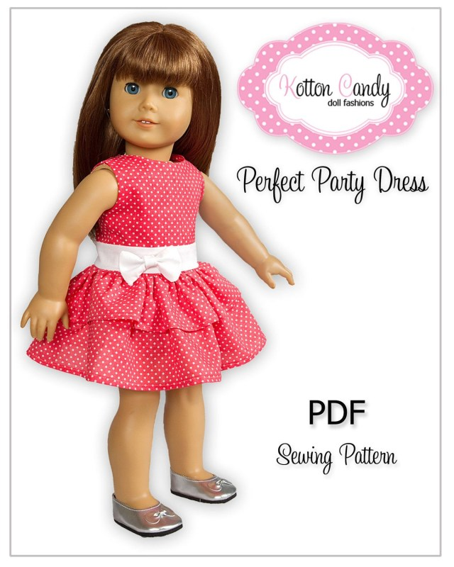 American Girl Doll Sewing Patterns Pdf Sewing Pattern For 18 Inch American Girl Doll Clothes Perfect