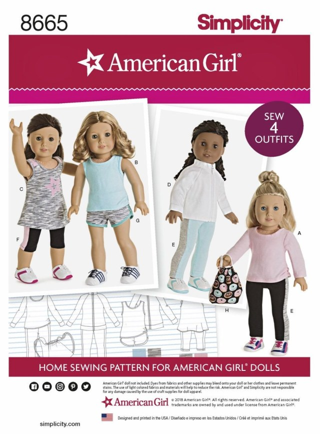 American Girl Doll Sewing Patterns Sewing Pattern American Girl Doll Clothes Pattern 18 Inch