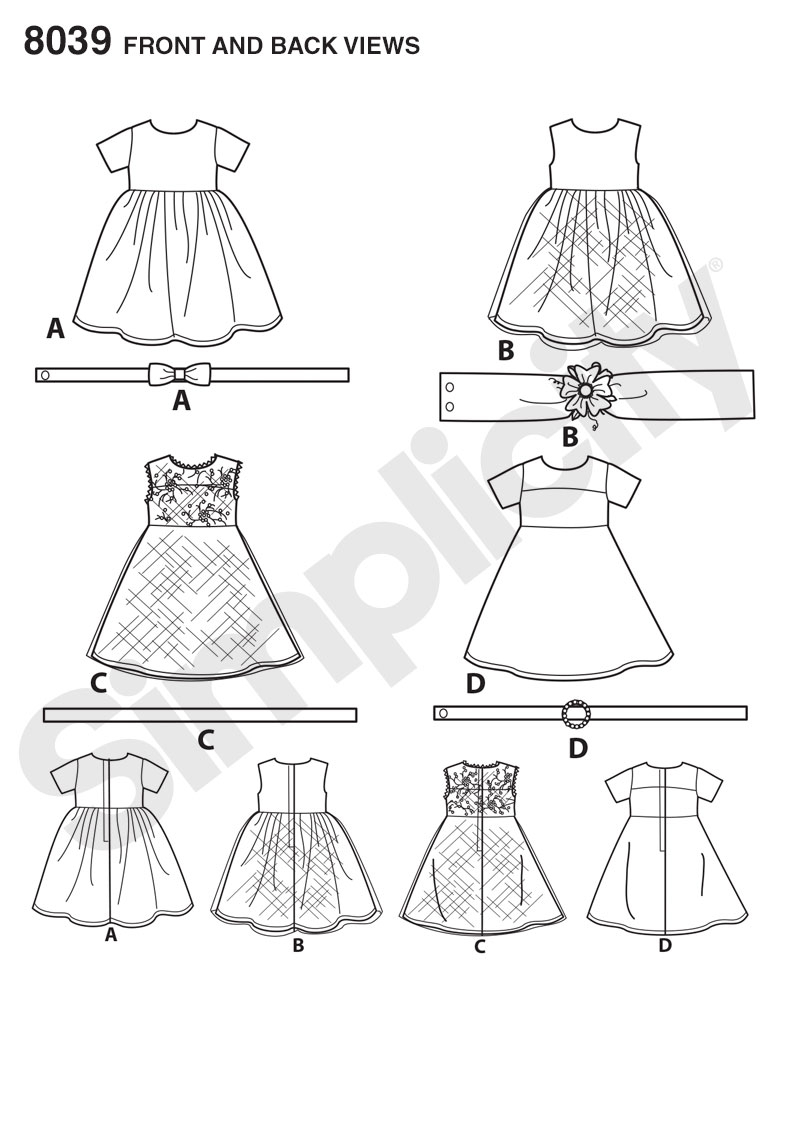 American Girl Doll Sewing Patterns Simplicity 8039 American Girl Doll Clothes For 18 Doll