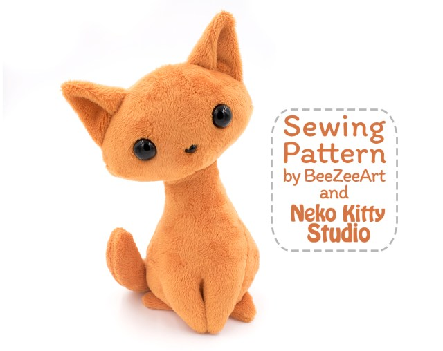 Animal Sewing Patterns Cat Stuffed Animal Pattern Soft Toy Patterns Cat Sewing Pattern