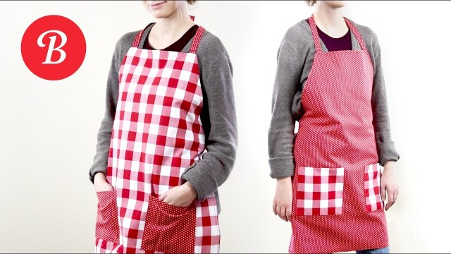 Apron Sewing Pattern Diy Reversible Apron Sew It Yourself Youtube