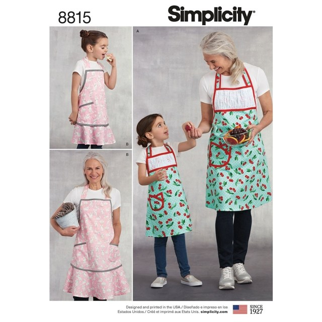 Apron Sewing Pattern Kids And Misses Apron Simplicity Sewing Pattern 8815 Sew Essential