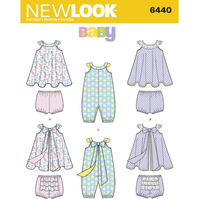 fa57a7b802e Baby Romper Sewing Pattern New Look Babies Romper And Sundress Sewing  Pattern 6440 Hobcraft